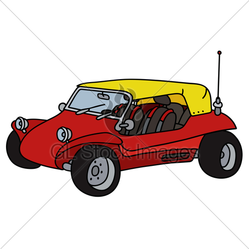 500x500 Funny Red Dune Buggy Gl Stock Images