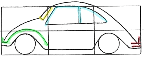 500x201 How To Draw A Volkswagen Beetle Punch Buggy With Easy Drawing