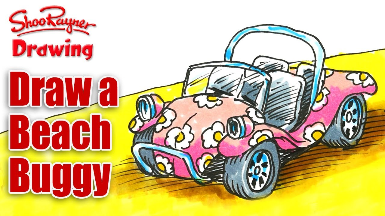 1280x720 How To Draw A Beach Buggy