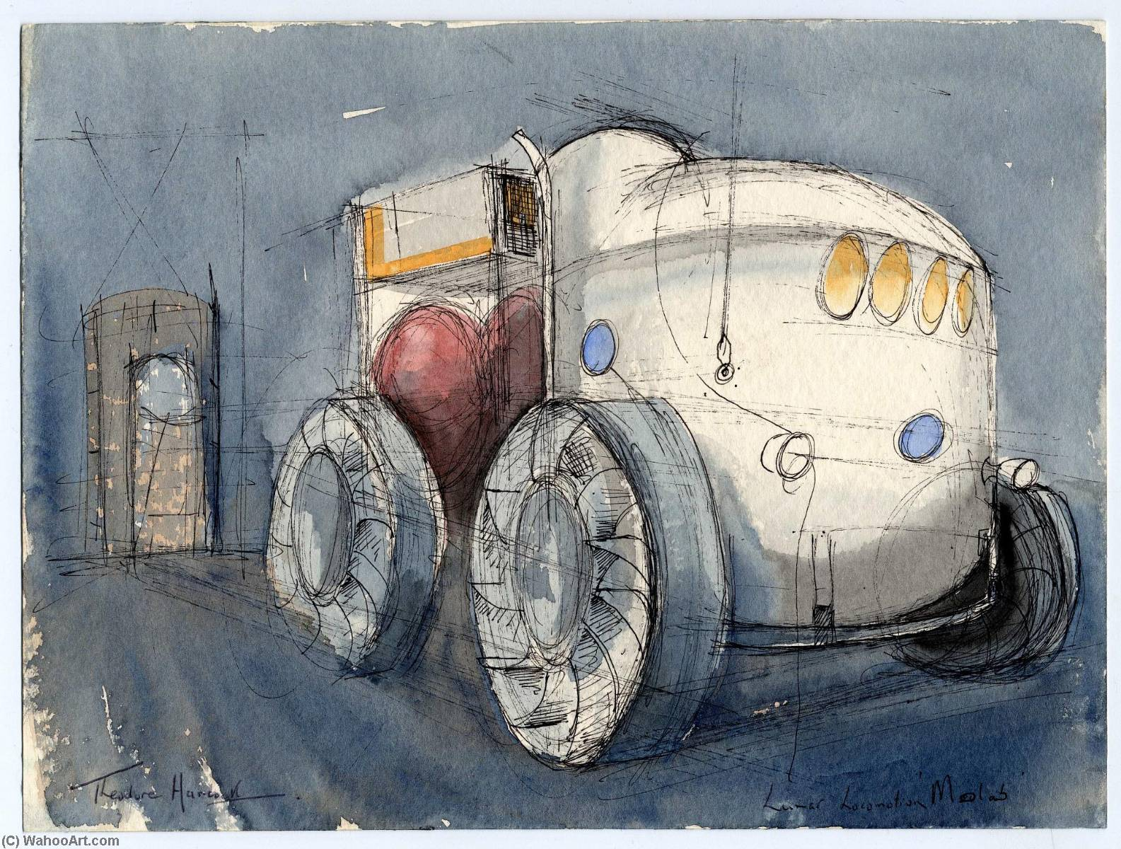 1585x1200 Moon Buggy, Watercolour By Theodore Hancock