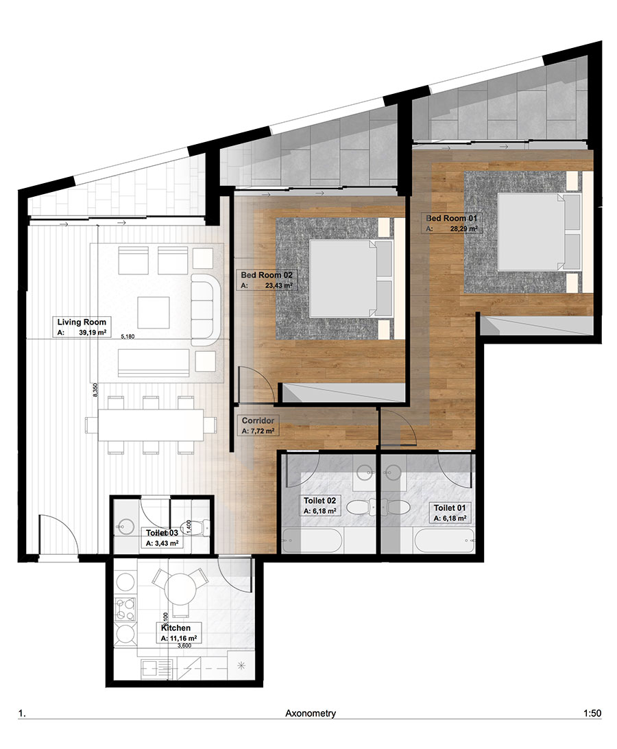 Architectural 3d Floor Plan Rendering: Building Drawing Plan Elevation Section Pdf At GetDrawings