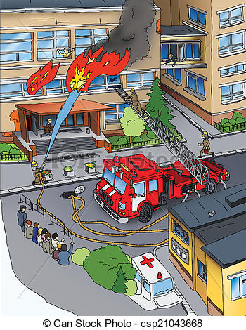 350x470 Fire Safety. Fire. Drawing. Drawing On A Subject Of Fire Safety