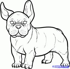 236x232 How To Draw A French Bulldog, French Bulldog, Step By Step, Pets