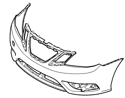 398x312 Genuine Saab 9 3 Front Bumper Cover 2008