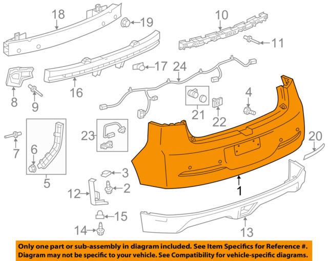 640x511 Chevrolet Gm Oem 11 15 Volt Rear Bumper Bumper Cover 23174756 Ebay