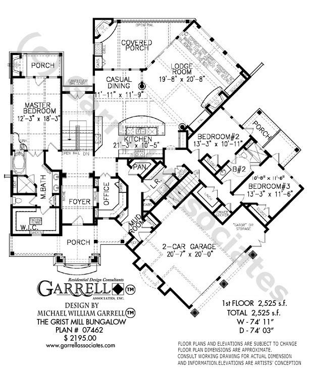 614x741 Grist Mill Bungalow House Plan House Plans By Garrell Associates