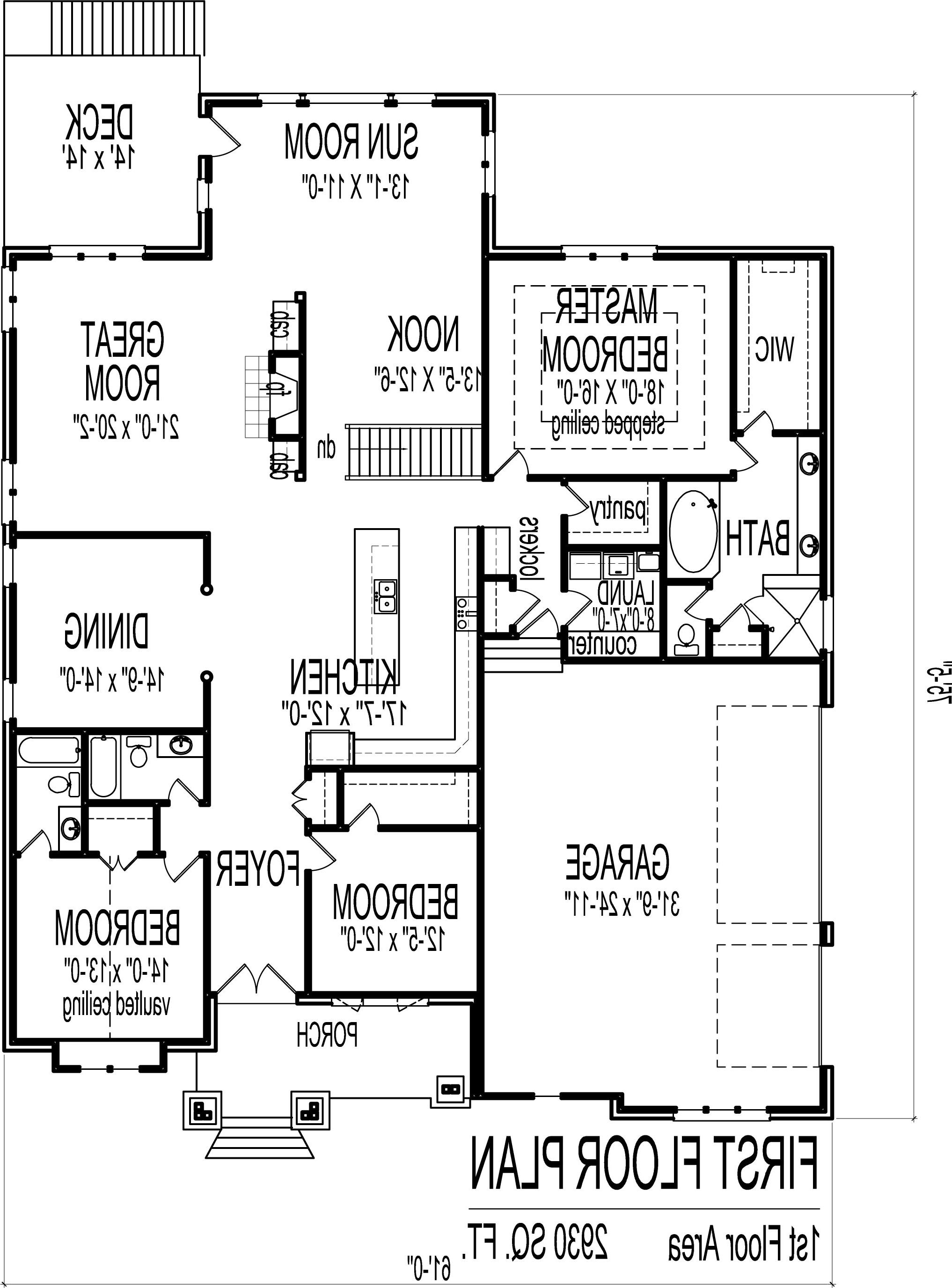 2034x2751 Bungalow Single Story House Plans Unique Pics Single Story House