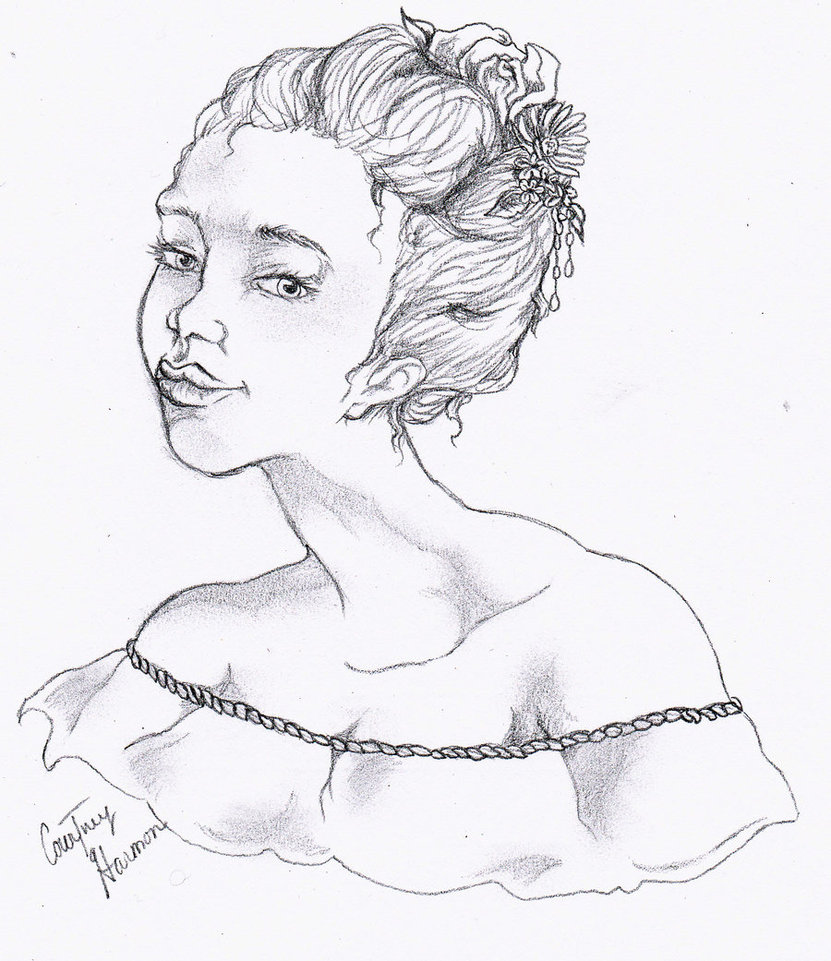 831x961 Female Bust Drawing By Passiononpaper