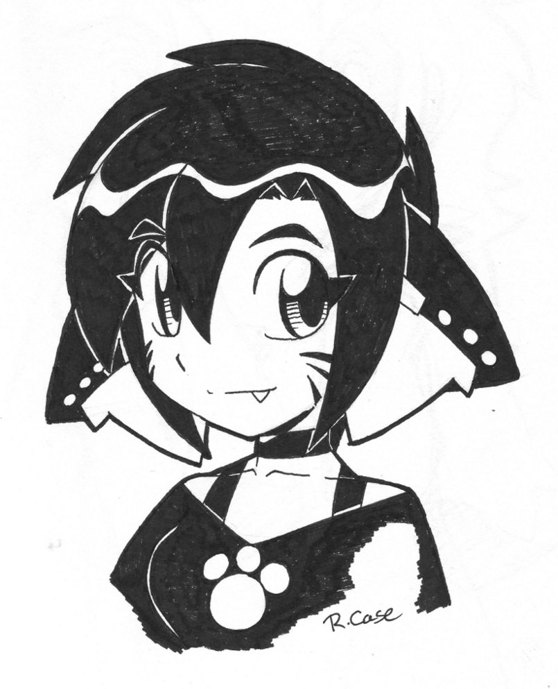805x993 Lara Ink Bust By Rongs1234