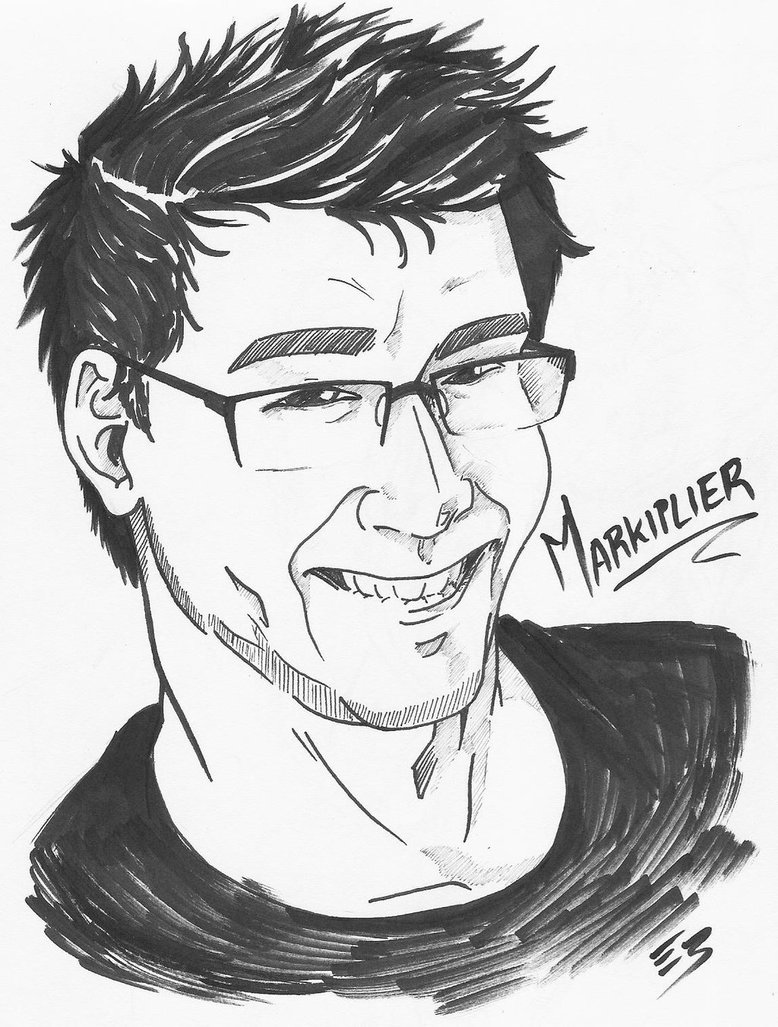778x1027 Markiplier Bust [Sketch] By Empty Brooke