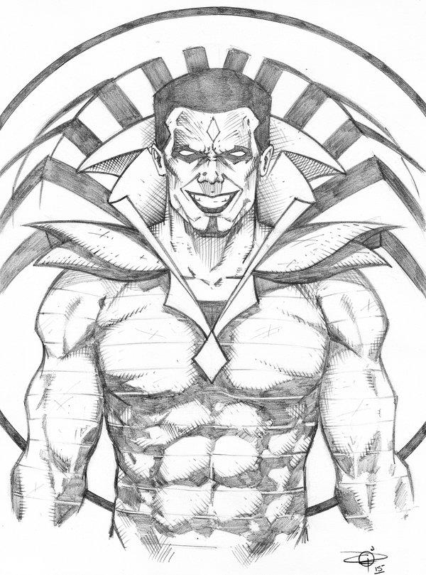 600x809 Mr. Sinister Bust Sketch By Carl Riley Art