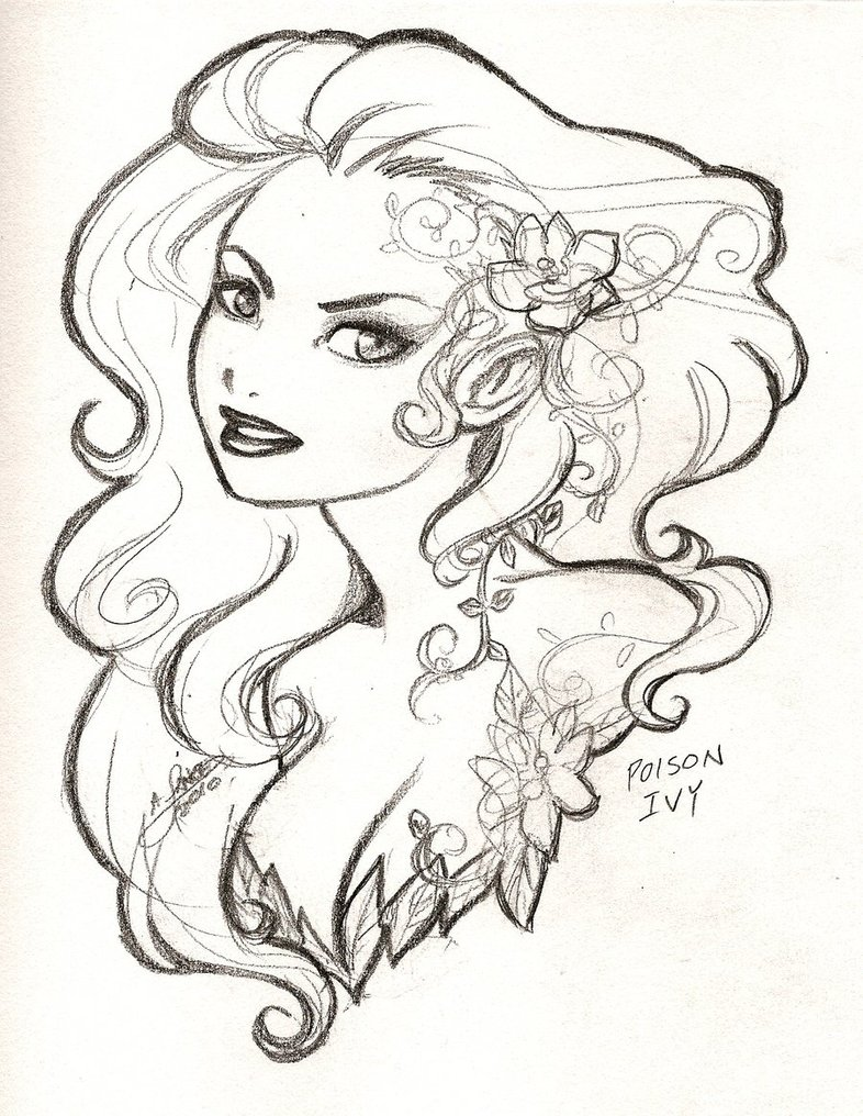 786x1016 Poison Ivy Bust By Aichan25
