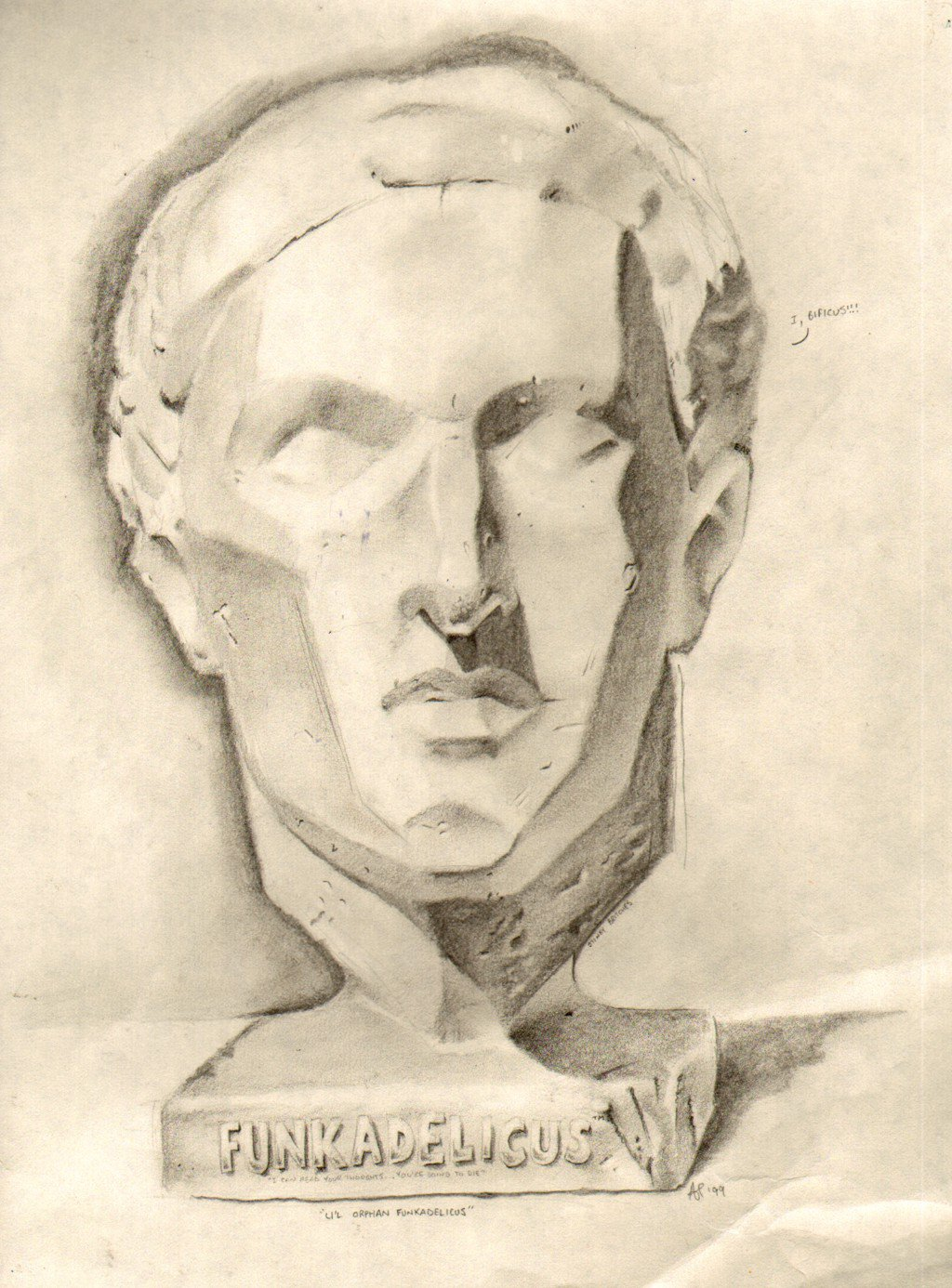 1024x1386 Bust Drawing By Alan Cooper