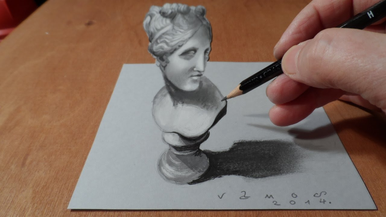 1280x720 How To Draw 3d Bust Of Venus