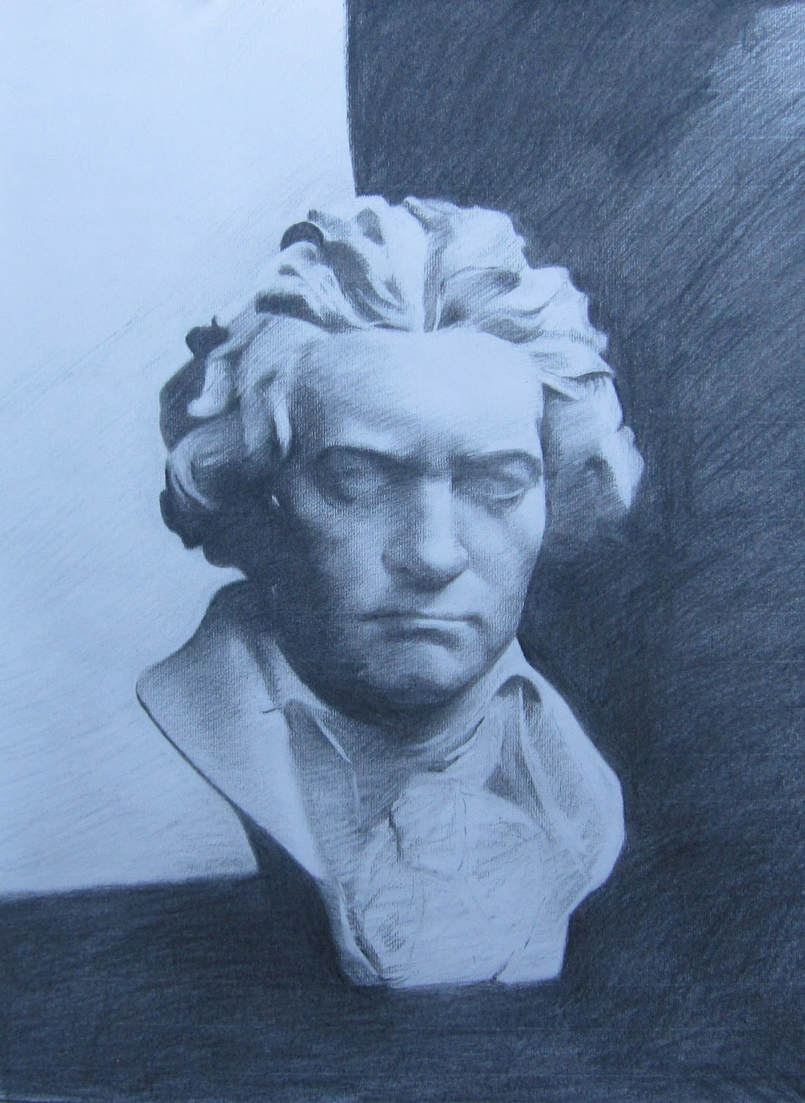 1168x1600 Sandra Galda's Oil Painting In Process Beethoven Cast Bust
