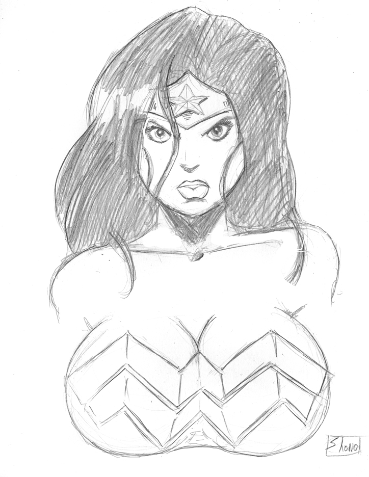 724x936 Commission Wonder Woman Bust By Shono