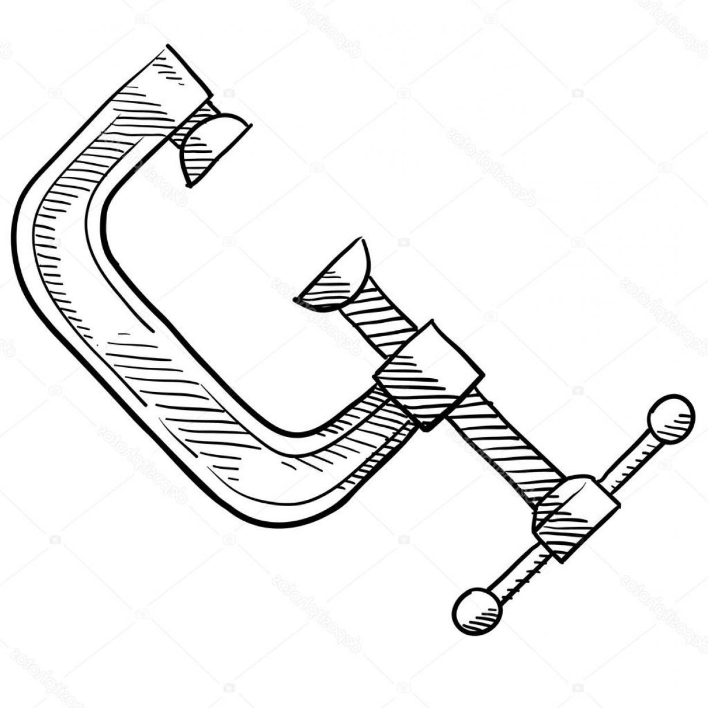1228x1228 Stock Illustration C Clamp Carpentry Or Tool Orangiausa