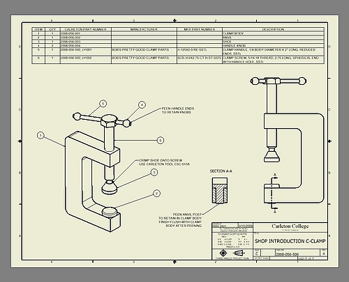 500x405 Assembly Drawing Of The Clamp