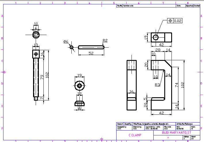 709x495 Techdrawing Drawing C Clamp