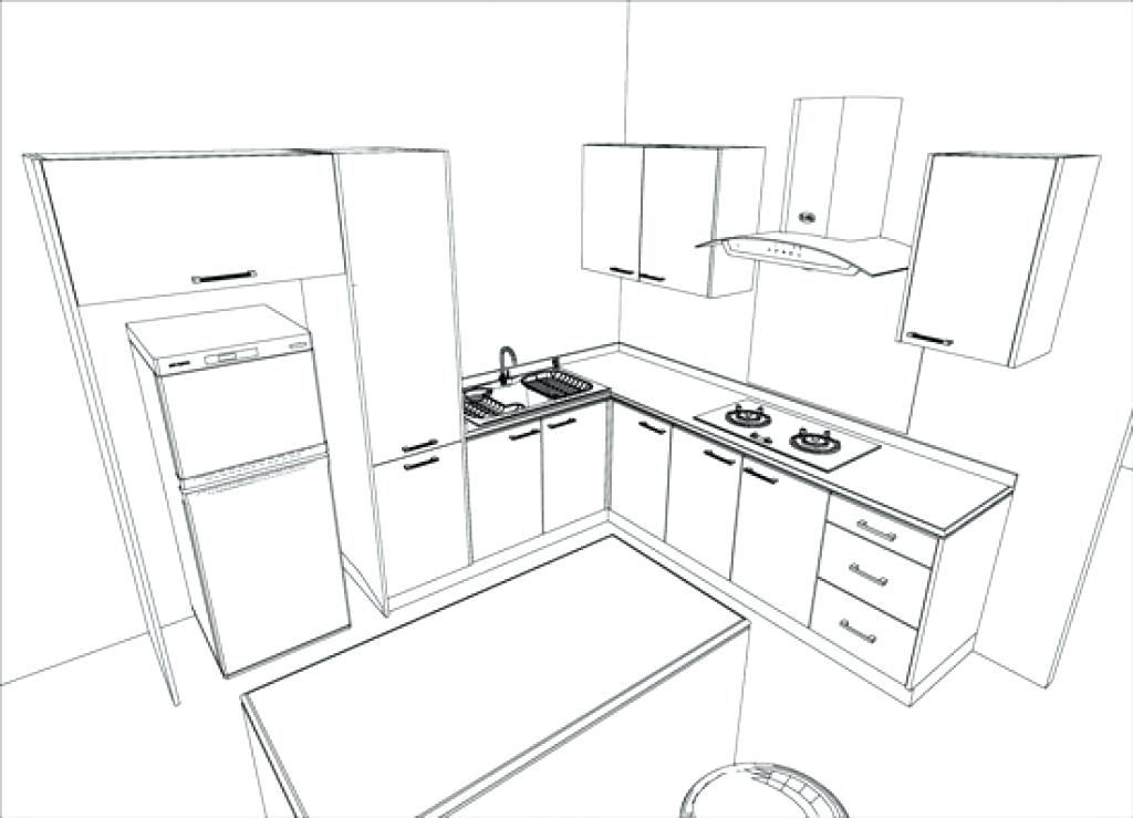 1024x739 Kitchen Design Sketch Kitchen Design Plans Kitchen Design Sketch