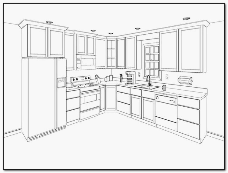 753x571 The Most Kitchen Cabinet Layout Planner Pics