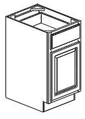 287x400 B21 Base Cabinet York Painted White Kitchen Cabinet