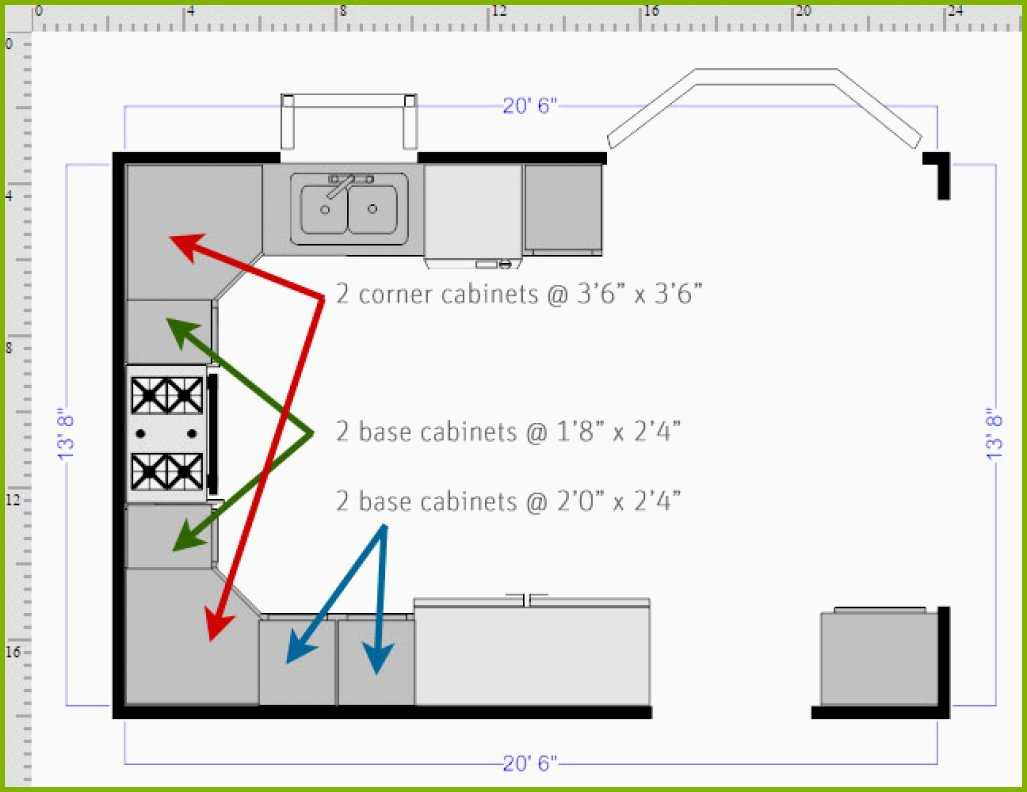 1027x792 Kitchen Base Cabinet Drawing Inspirational How To Draw A Floor