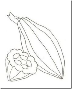 236x294 Cacao Pod Coloring Page Chocolade Cacao Beans