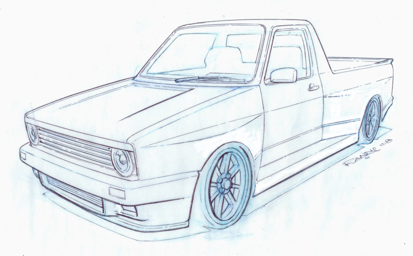 Caddy Drawing At Free For Personal Use Vw Electrical Diagram 1400x869 Mk1 V Dub By Tincap