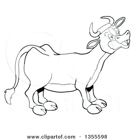 450x470 Cow And Calf Coloring Book Cow And Calf Cow Outline Drawing Cow