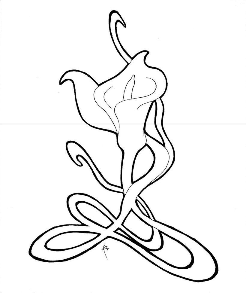 820x975 Calla Lily Dorian Gray By Heidiceleghin On Line Art