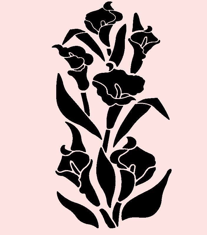 703x800 Templates For Calla Lilies