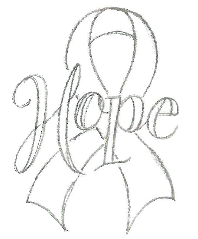 655x790 Cancer Ribbon Coloring Page Breast Pages Free 1841