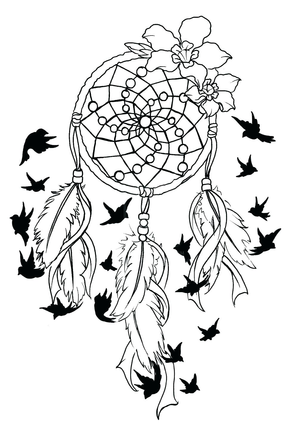 1024x1441 Coloring Page Breast Cancer Coloring Pages Ribbon With Bird Tattoo