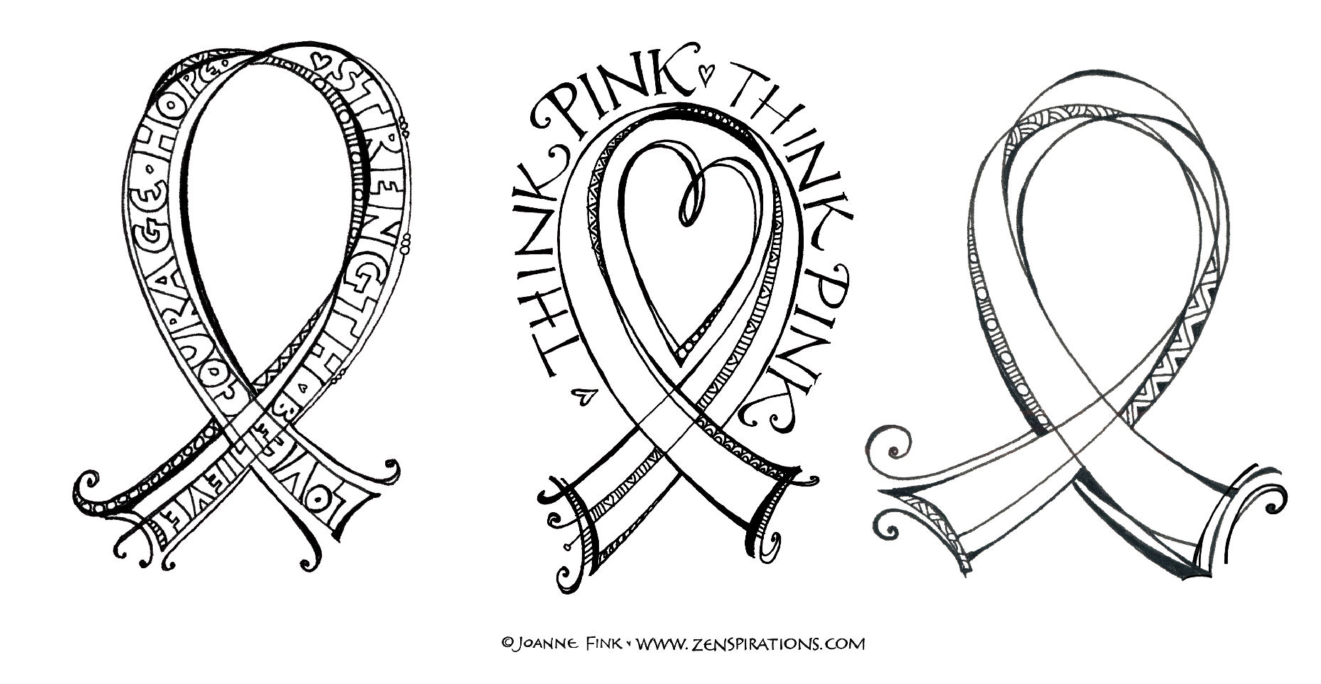 1859x963 Drawings Of Breast Cancer Ribbon Think Pink! Free Downloadable