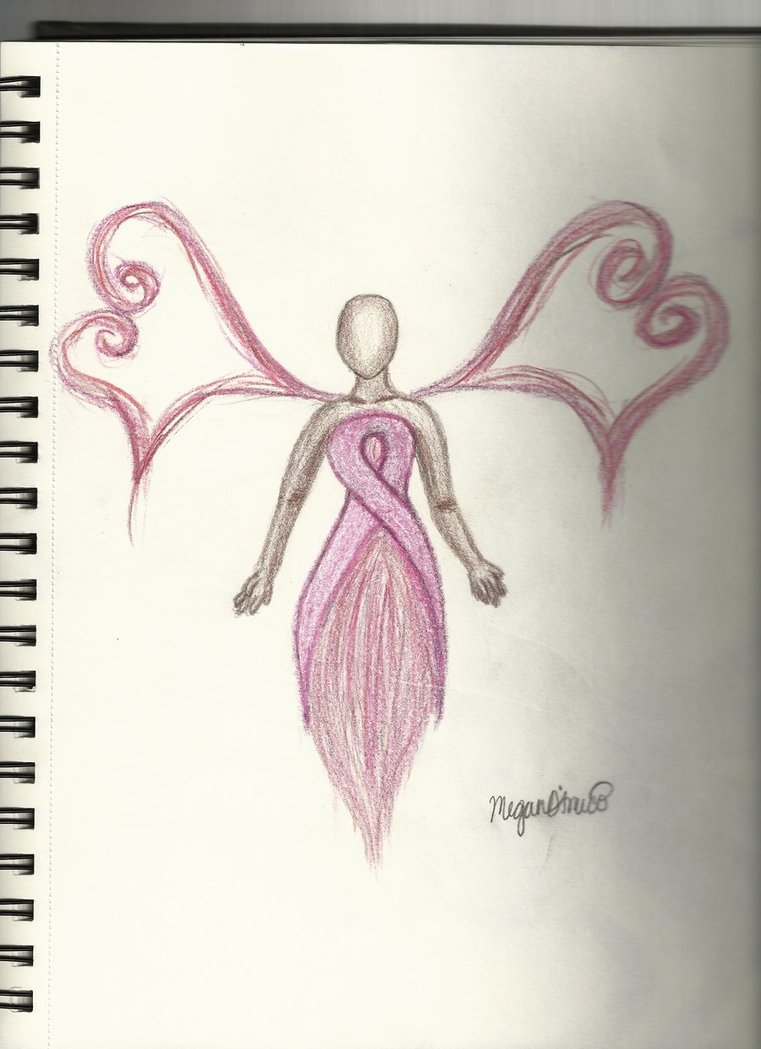 761x1049 Breast Cancer Fairy By Megandamico