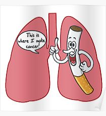 210x230 Lung Cancer Drawing Posters Redbubble