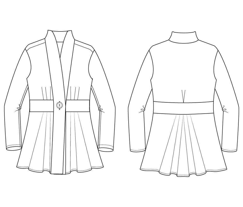 1000x849 Paro Cardigan Digital Sewing Pattern (Pdf Sewing Patterns