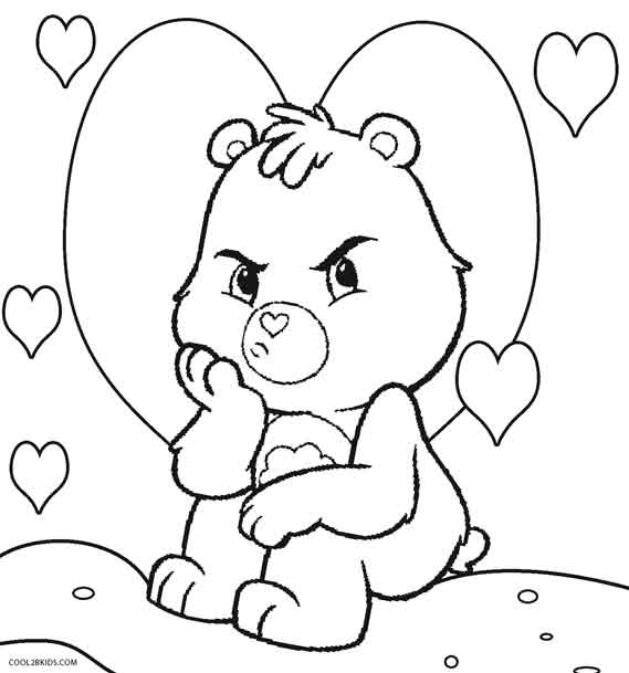 569x609 Printable Care Bears Coloring Pages For Kids Cool2bkids
