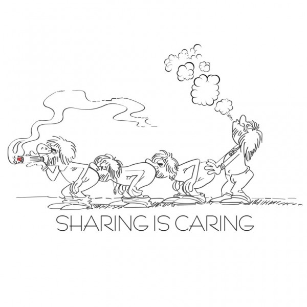 600x600 Sharing Caring (White)