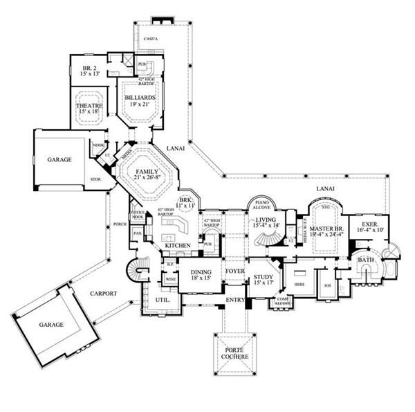600x595 Floor Plan First Story House Plans Bungalow, House