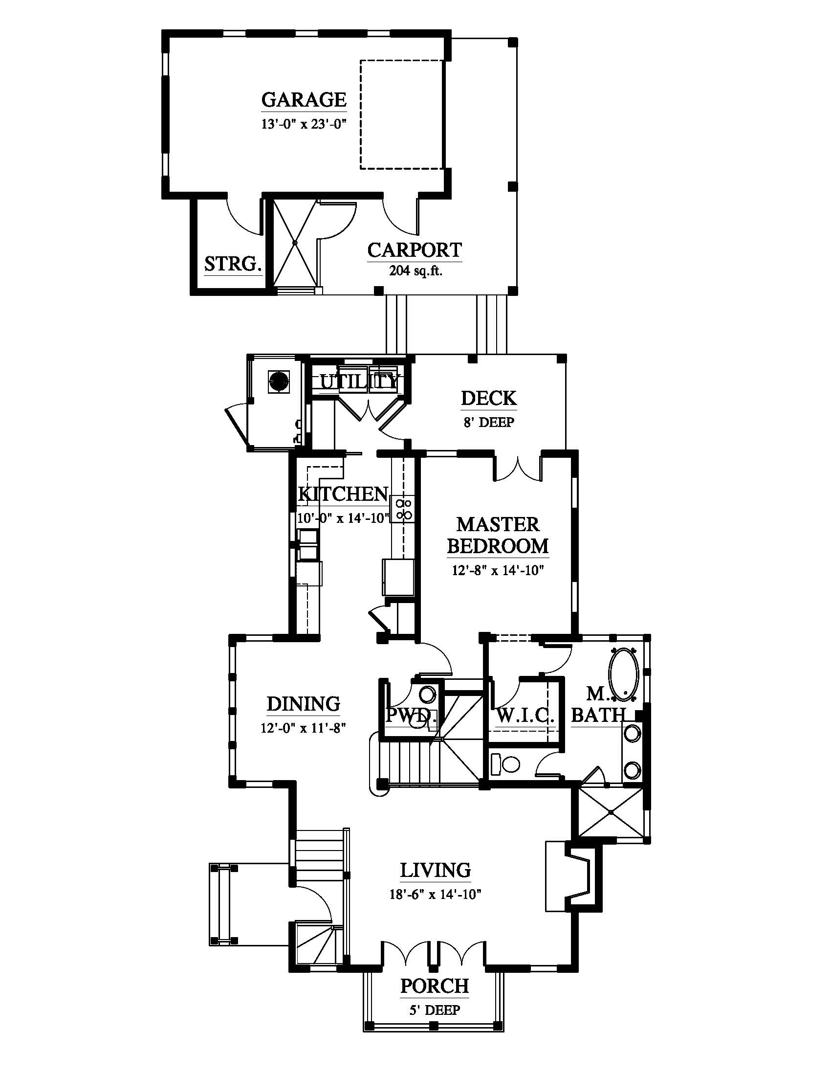 1700x2200 The Cullowhee House Plan (Nc0014) Design From Allison Ramsey