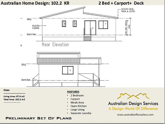 570x427 2 Bed Carport Home Design House Plans For Sale Living