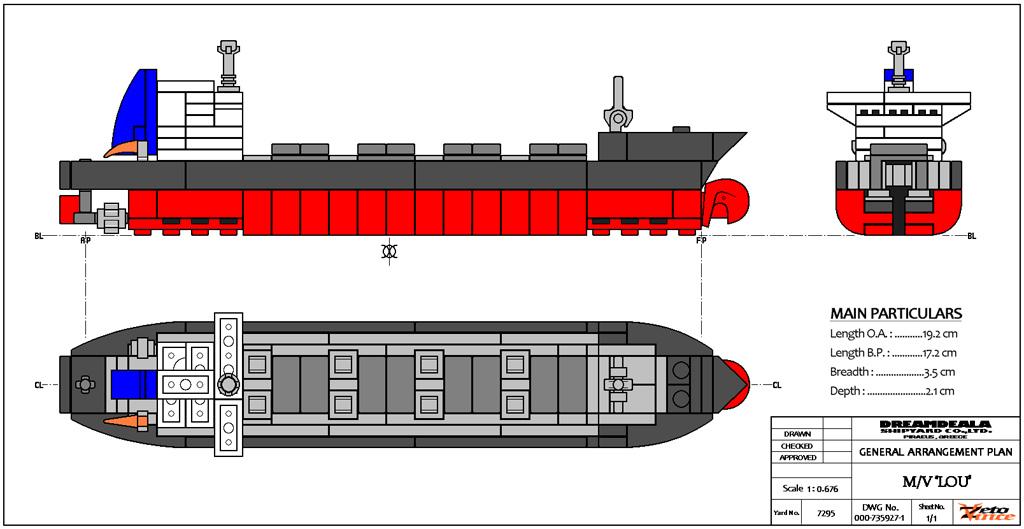 1024x529 Bulk Carrier Mv Lou (G.a. Plan) It's A Mini Scale Bulk