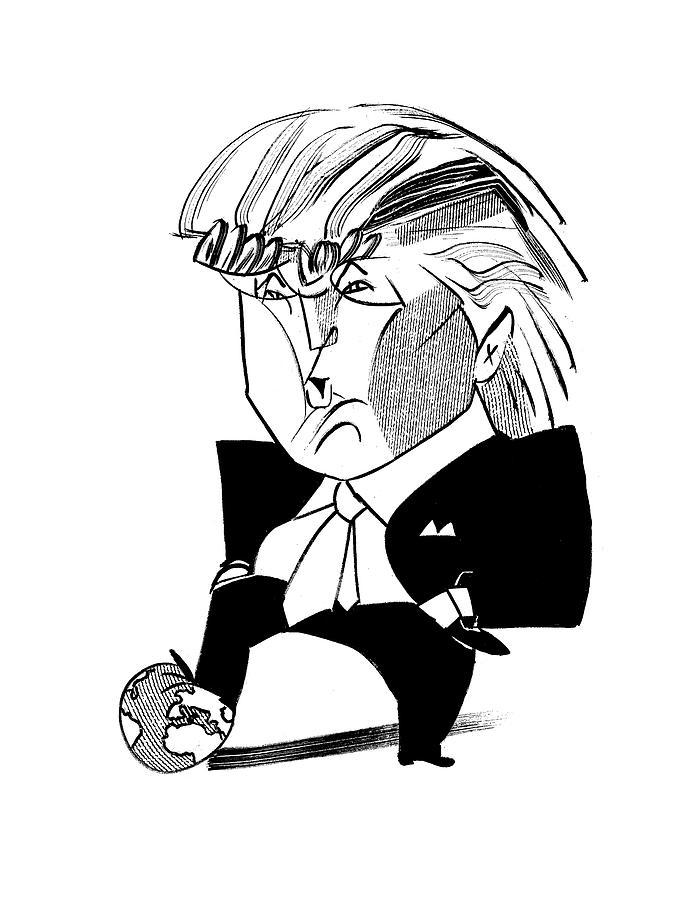 688x900 Donald Trump Globe By Tom Bachtell