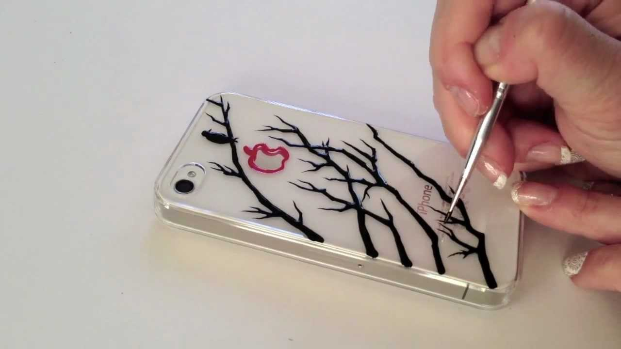1280x720 Diy Speed Ink Drawing On Phone Case A Bird On The Tree