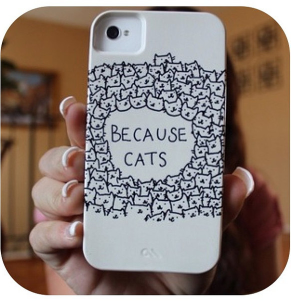 583x610 Jewels, Case Mate, Cats, Iphone 4 Case, Lovely, Black And White