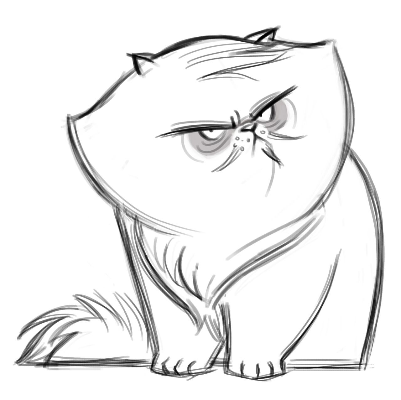 Cat With Glasses Drawing