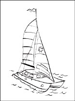 155x208 Catamaran Coloring Page Coloring Pages