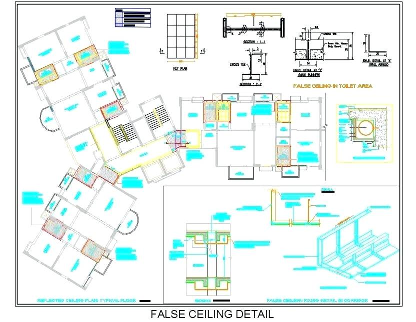 832x645 Ceiling Detail Drawing Grid Suspended False Ceiling Fixing Detail